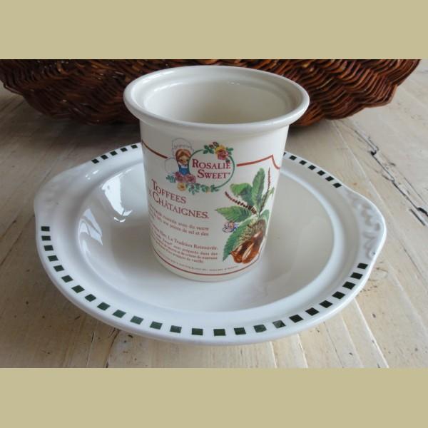 Brocante Keukenspullen : Frans brocante snoeppotje met kastanje afbeelding, Rosalie Sweet – La