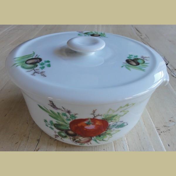 Retro Keukenspullen : Keukenspullen > Franse vintage pan Aluminite Frugier / Limoges met