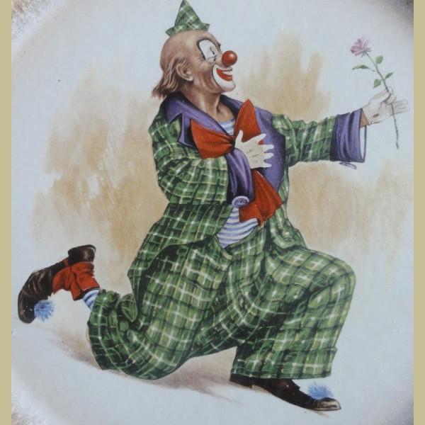Retro Keukenspullen : Retro & vintage > 2 Vintage wandborden clowns, Silberdistel