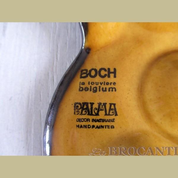 Retro Keukenspullen : Keukenspullen > 4 Vintage Boch la Louviere slakkenbordjes