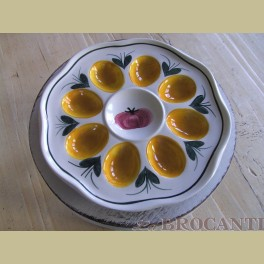 Landelijk eierbordje / eierschaaltje voor 8 eieren