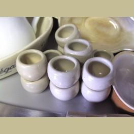 Vintage franse keramieke slakken / escargot potjes