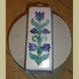 Landelijke keramieke bakvorm bloemen / tulpen