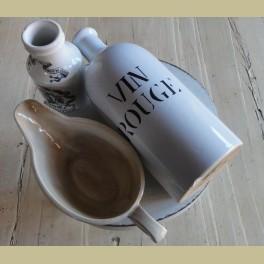 Franse fles (Jamie Pradier) met zwarte tekst VIN Rouge