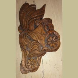 Groot houten sculpture houtsnijwerk vogel