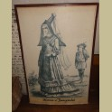 Oude brocante schoolplaat, Maria van Bourgondië