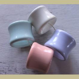4 Pastel houten servetringen