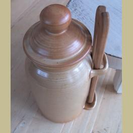 Landelijke Franse gres zuurpot / augurken pot