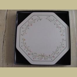 5 landelijke Engelse Cloverfield placemats met roze bloemetjes