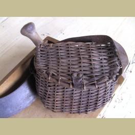 Oud Frans rieten vis mandje