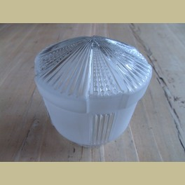 Glazen lampenbol met helder en mat glas
