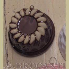Bruine landelijke puddingvorm