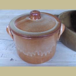 Landelijke keramieke potterie pan