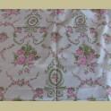 Vintage franse stof met roze rozen, Marignan Grand teint meuble