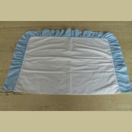 Brocante sloopje wit met lichtblauw baby ruitje