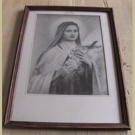 Ingelijste religieuze prent Maria