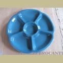 Blauwe schaal FLORA keramiek