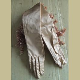 Brocante handschoenen zalm roze