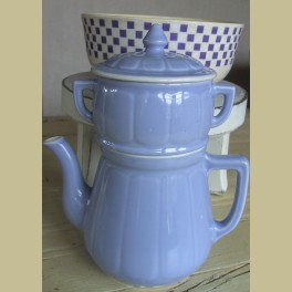 Lichtblauwe Franse koffiepot / cafetière
