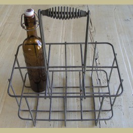Oud brocante flessenrekje