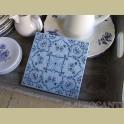 Villeroy & boch wandtegel blauw witte bloemen onderzetter