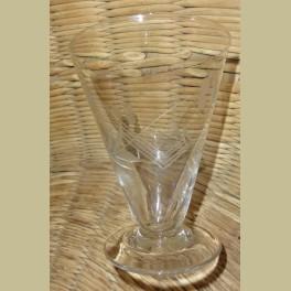 6 oude gegraveerde glazen / ijscoupes