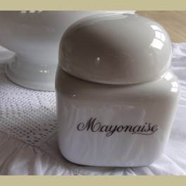 Wit porseleinen Mayonaise pot