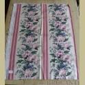 Landelijke stof met roze bloemen