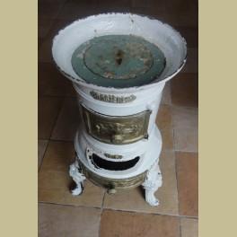 Oud Frans brocante gietijzeren potkacheltje Rosieres