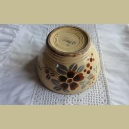 Oude Franse beboterde spoelkom, Sarreguemines Digoin met bloemen