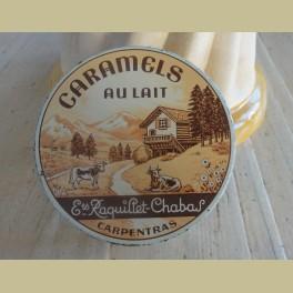 Frans brocante caramel blikje