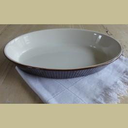 Bruine retro ovale ovenschaal Villeroy & Boch