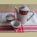 Vintage koffiepotje & suikerpot, Seltmann Weiden CORA
