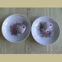 2 Bavaria schaaltjes/ bordjes met roze bloemetjes