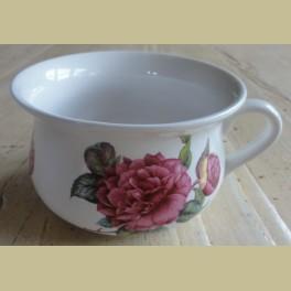 Brocante kleine Engelse sier po met pioenroos , Portmeirion pottery