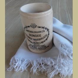 Engelse brocante beboterde marmelade pot