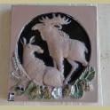 Vintage Zweedse wanddecoratie met elanden, JIE Gantofta