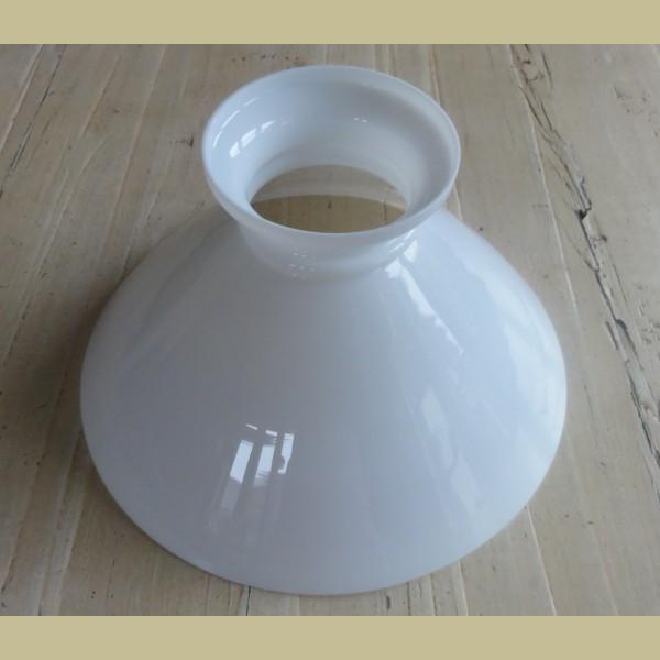 Bedwelming Grote witte melkglazen lampenkap - La Brocanti VF77