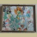 Brocante schilderijlijstje, collage van engeltjes