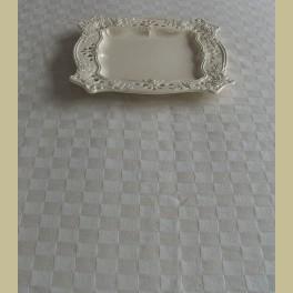 Landelijk pompdoek tafelkleed, ecru 150 cm x 200 cm