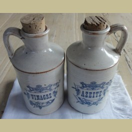 Landelijk Portugees olijf olie en azijn flesjes / kruikjes