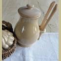 Franse landelijke zuurpot met houten zuurtang