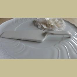 Landelijke wit porseleinen taartschep