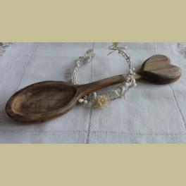 Handgemaakte houten huwelijks lepel