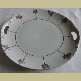 Brocante taartschaal met bloemetjes