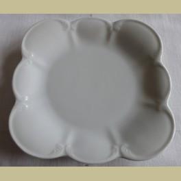 Brocante sierlijk wit porseleinen bordje