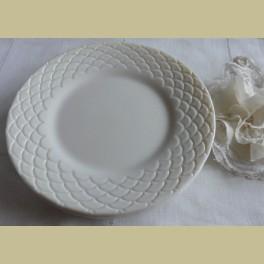 4 ontbijtbordjes, Arcopal Romane, Ivory