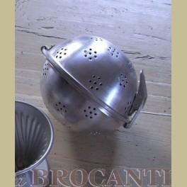 Brocante aluminium rijstbol