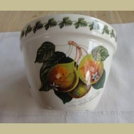 Engels landelijk bloempotje, peren, rode bessen, perzikken, Portmeirion