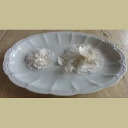 Grote witte porseleinen serveerschaal, Hutschenreuther Viktoria